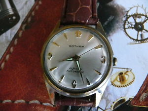 【送料無料】1960s mens gotham automatic 25 jewels caliber puw 1360 dugena wrist watch