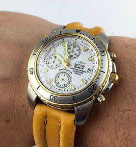 【送料無料】orologio sector 550 chrono watch swiss made sapphire crystal diver nos vintage