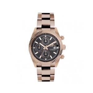 【送料無料】orologio uomo lorenz ginevra 030094jj chrono bracciale acciaio ros nero 100mt