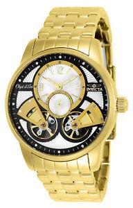 【送料無料】invicta 25579 objet d art mens automatic yellow steel watch