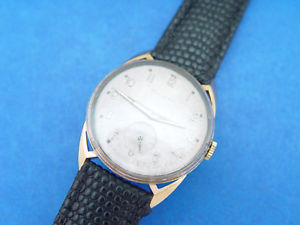 serviced mens bulova 1956  awesome majestic open doggy ears tapered lugs