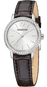 【送料無料】swarovski womens graceful quartz stainless steelbrown leather watch 5261487