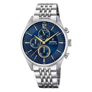 【送料無料】orologio festina timeless uomo cronografo blu f202853