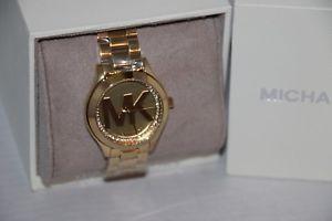 【送料無料】michael kors womens mini slim runway goldtone stainless steel watch mk3477
