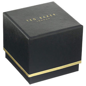 ted baker  beth grey leather strap watch in presentation gift box