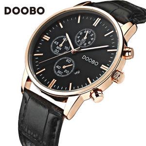 【送料無料】doobo men watches luxury casual business leather wristwatch xmas gifts for him