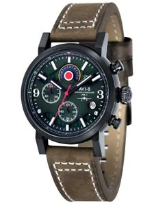 【送料無料】avi8 hawker hurricane chronograph 43mm 5atm av404104