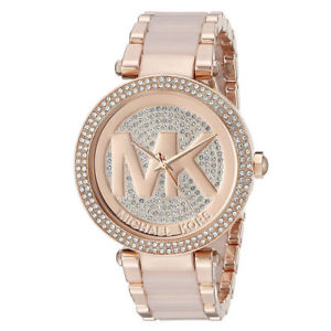 【送料無料】michael kors womens 39mm parker pav rose gold watch mk6176 29500
