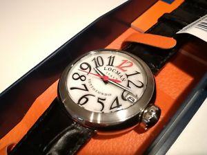 【】orologio donna locman italy,tuttotondo,madre perla,cinturino pelle nera,wr50mt:hokushin