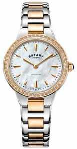 【送料無料】rotary womens kensington rose gold two tone lb0527741 watch 34
