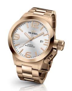【送料無料】tw steel cb161 mens rose gold 45mm canteen watch 2 years warranty