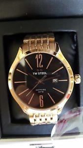【送料無料】tw steel gentlemens rose gold watch, brand , 100  authentic rrp 350:hokushin
