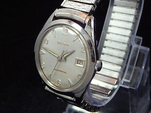 excellent original vintage 1962 bulova  selfwinding date ssteel watch service