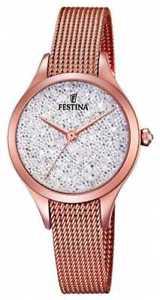 【送料無料】festina womens mademoiselle rose gold pvd mesh f203381 watch 6