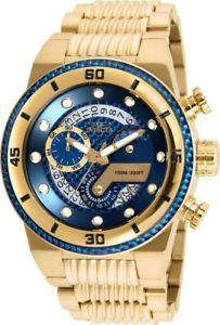 【送料無料】25281 invicta 51mm mens s1 rally goldtone polyurethane watch