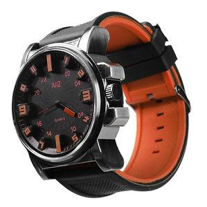 mens orange big boy wristwatch