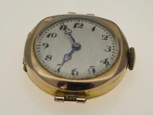 【送料無料】9 ct gold vintage sapho brand wrist watch swiss made working order hallmark 1947