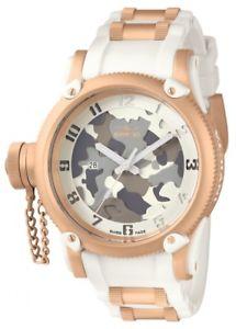 【送料無料】invicta mens 11340 russian diver grey, beigeamp; brown camouflage white poly watch