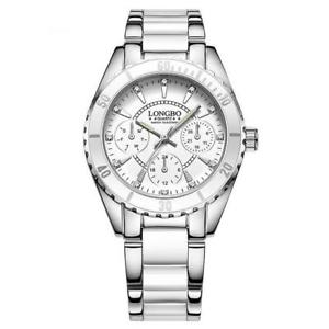 longbo womens chronograph watch pink or white