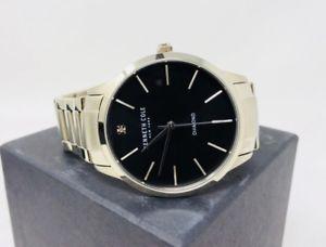 kenneth cole kc15111014  silvertone stainless steel round watch men retail 135