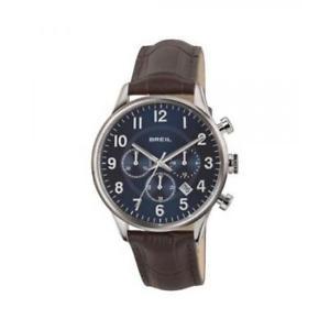【送料無料】orologio uomo breil contempo tw1576 chrono vera pelle marrone blu sub 50mt