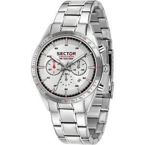 【送料無料】orologio sector 770 r3273616005 uomo watch acciaio 44mm silver cronografo data