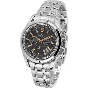 【送料無料】jacques lemans mens liverpool 44mm steel bracelet quartz watch 111171xn