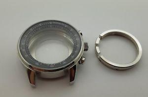 valjoux 7750 boitier pilote acier 316l lunette interne tachymetre neuf 46mm