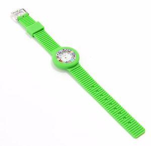 orologio donna silicone verde in vetro di murano murrina millefiori