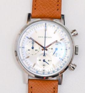 【送料無料】dan henry 1964 gran turismo chronograph silver no date full set with warranty