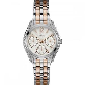 【送料無料】orologio donna guess w1020l3 multifunzione acciaio bicolor ros swarovski