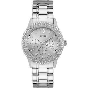 【送料無料】orologio donna guess bedazzle w1097l1 multifunzione bracciale acciaio swarovski