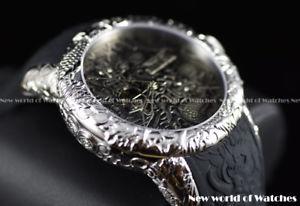 invicta mens 50mm empire dragon auto open heart antique silicone st watch 25080