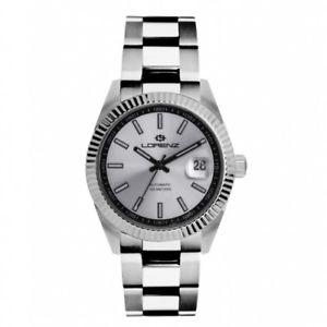 【送料無料】orologio lorenz automatic ginevra uomo acciaio bianco 30091aa