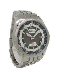 【送料無料】bulova precisionist 96b172 mens round analog date stainless steel watch