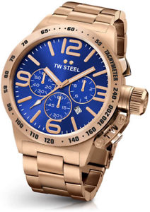 【送料無料】tw steel cb184 mens rose gold 50mm canteen watch 2 years warranty