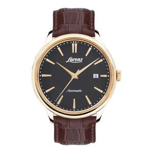 【送料無料】orologio automatico uomo lorenz 030027bb pelle marrone gold dorato nero classico