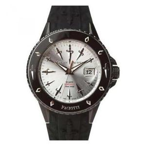【送料無料】orologio uomo cesare paciotti deep fall tsdf047 silicone nero silver 4us 200mt