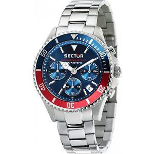 【送料無料】orologio sector 230 r3273661008 watch silicone rosso blu cronografo uomo acciaio