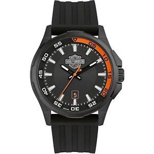 【送料無料】harley davidson 78b140 mens dashboard wristwatch