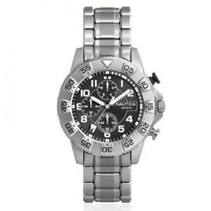 【送料無料】orologio uomo nautica nsr 104 nad16004g chrono bracciale acciaio