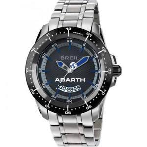 【送料無料】orologio uomo breil abarth tw1487 bracciale acciaio nero blu sub 100mt