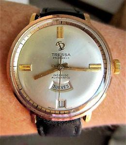 【送料無料】gents swiss 1960s gp tressa automatic 25j day date f4009 watch serviced