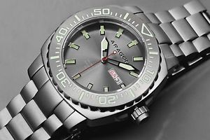 【送料無料】aragon a155gry parma automatic 48mm watch