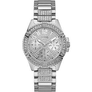 【送料無料】orologio guess lady frontier w1156l1 watch multifunzione donna zirconi acciaio