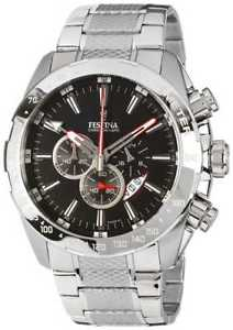 【送料無料】festina mens chronograph stainless steel bracelet f164885 watch 17