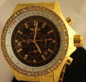 【送料無料】mens baisiao automatic watch chronograph water resistant unique htf gems