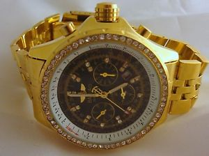 mens baisiao automatic watch chronograph water resistant unique htf gems
