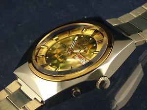 【送料無料】vintage retro swiss tressa lux crystal automatic watch 1970s nos cal as 5206