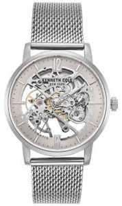 【送料無料】kenneth cole gents stainless steel case skeleton kc50054006 watch 17